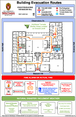 Exit evacuation environment health safety uw madison for Occupant emergency plan template